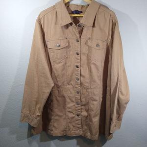 Roaman's Khaki Button Down Hiking Shirt